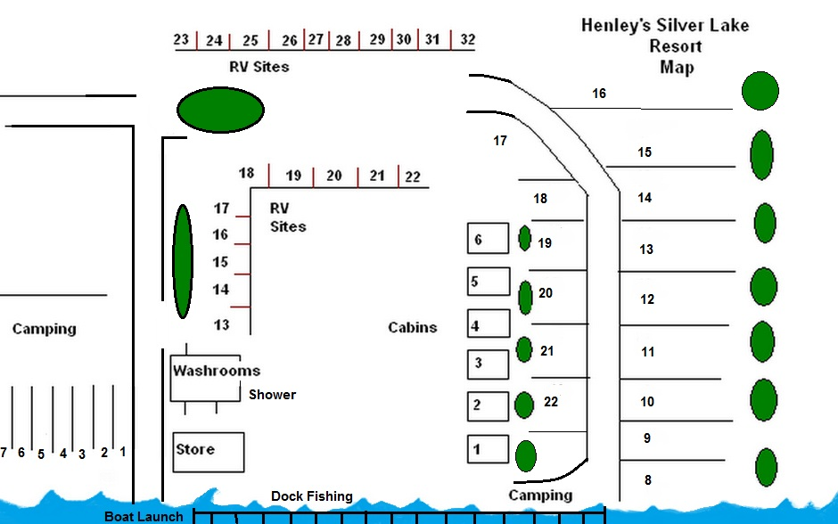 silver lake resort map Maps Henley S Silver Lake Resort silver lake resort map